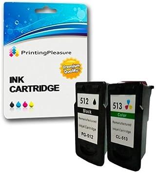 2 Compatibles PG-512 CL-513 Cartuchos de Tinta para Pixma iP2700 MP230 MP240 MP250 MP260 MP270 MP272 MP280 MP480 MP490 MP492 MP495 MX320 MX340 MX350 ...