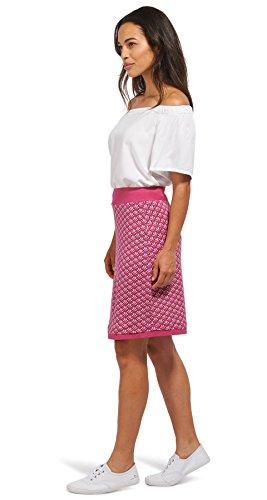 Tom Tailor für Frauen Skirt gemusterter Jersey-Rock cornflower pink 38