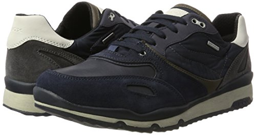 Sandford Hombre Grey para Zapatillas B Azul A U Geox ABX Dark Navy qx6B504B