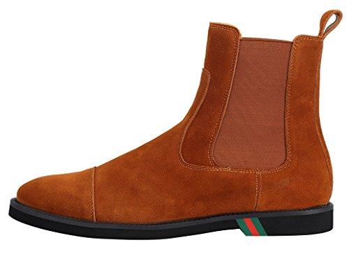 Stivaletti marrone italiana classici uomo marrone blu pelle stivaletti Stivaletti e nero in Chelsea qt644x