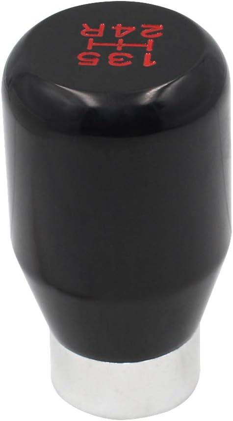 Sakali Universal Vehicle Carbon Fiber Shift Shifter Knob with 3 Adaptors 8mm 10mm 12mm Inner Diameter Car Manual or Automatic Universal Gear Knob Red