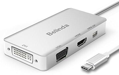 Amazon.com: USB C adaptador multipuerto, Belinda USB-C a ...