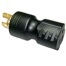 Conntek 30120, 15 to 15-Amp Locking Adapter with NEMA L5-15P male plug to 5-15R female connector