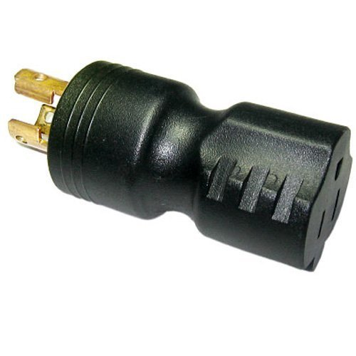 Nema L5 15p - Conntek 30120 UNO Locking Plug NEMA L5-15P to NEMA 5-15R 125-Volt Adapter