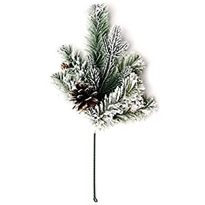 CraftMore Frosted Forest Pine Pick Set of 6