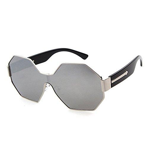 Sol Las UV Peggy Pieza de Sola Gafas de de del Marrón metálico la Polígono Vacaciones de Verano Conducir Las Gu del del Playa de Protección Las una Color Mujeres Marco Plata para q0pEwrq
