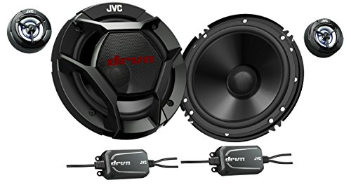 - JVC CSDR601C Component Car Speakers - 360 Watts of Max Power and 180 Watts Per Set, Two 6.5
