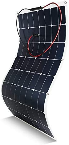 Kingsolar Flexible Solar Panel 100 Watt 18 Volt 12 Volt, ETFE Surface Not PET Surface Most of Others Ultra Lightweight, Ultra Thin, Up to 260 Degree Arc, for RV, Boats, Roofs, Uneven Surfaces