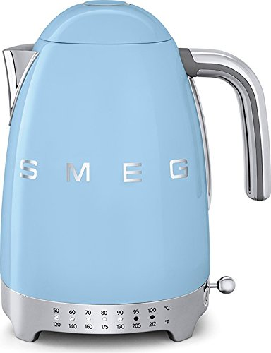 Smeg 50's Retro Variable Temperature Kettle Pastel Blue (Large Image)