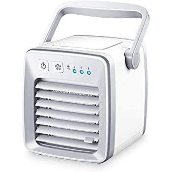 e3f479b50d3 TY WJ Usb Air conditioner fan Small desktop fan Mini portable Air cooler  For office Dorm Nightstand Silent-White 13x22cm(5x9inch)