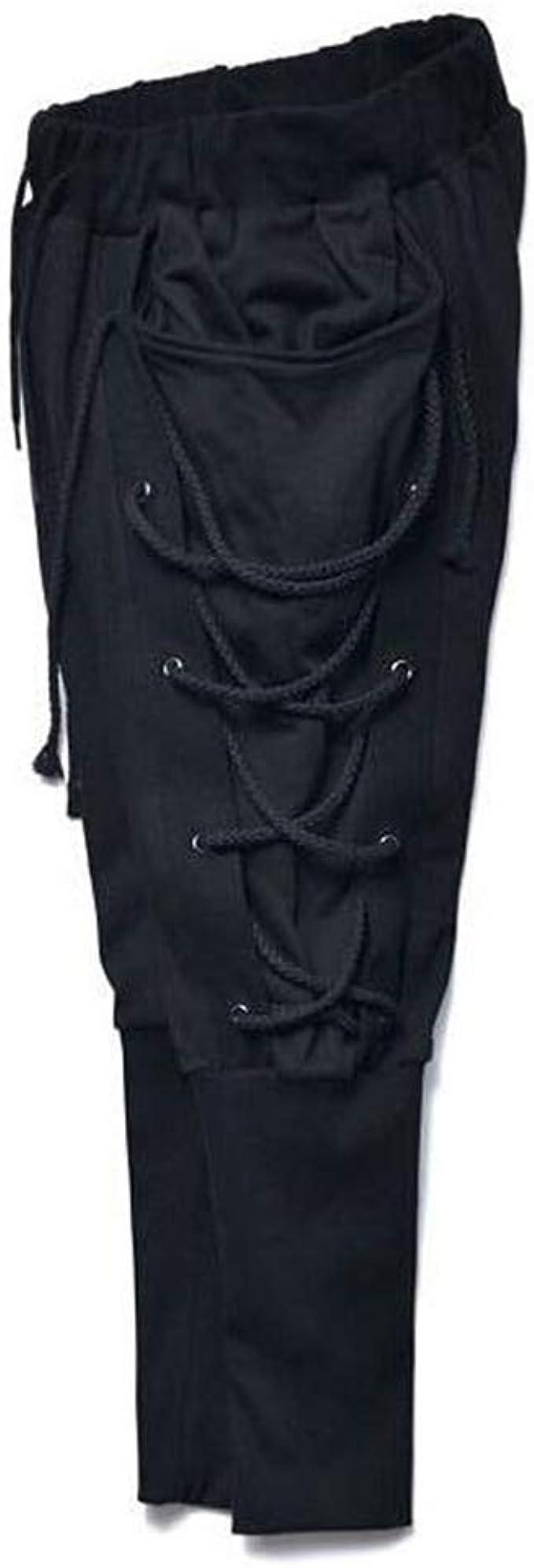 Kasonj Pantalones Con Cordones Para Hombre Pantalones Goticos Medievales Otras Marcas De Ropa Ropa