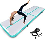 Inflatable Gymnastics Air Track Tumbling Mat 4 Inch Thickness for Home Use/Yoga/Water with Electric Pump