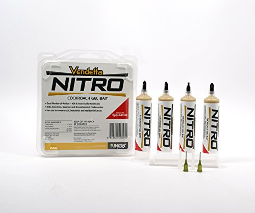 Vendetta Nitro Cockroach Gel (30-gram tube), 4 Pack