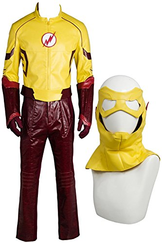 NoveltyBoy Young Justice Season 2 Kid Flash Mask Top Pants Set Outfit Cosplay - Justice Outfits Victoria