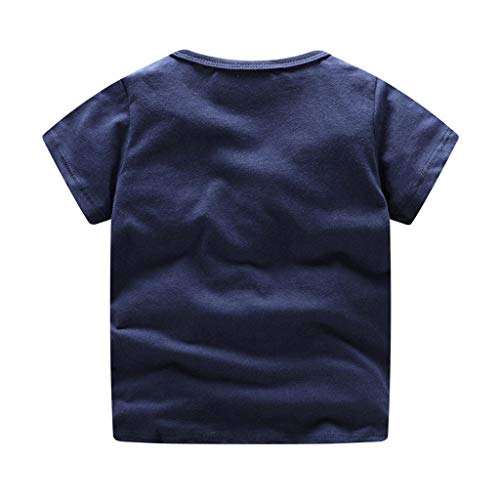 NUWFOR Children Kids Baby Girls Boys Cartoon Print T-Shirt Tee Tops Clothes (Navy,4-5 Years by NUWFOR (Image #1)