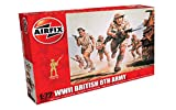 Airfix WWII British 8th Army Figures 1:72 Military Soldiers Plastic Model Kit