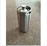 MAGA 1 Mini-keg Growler stainless 3.6L stainless Mini beer keg Growler wine pot Beer Growlers Unbreakable Homebrew Carbonating