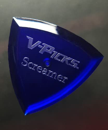 V-Picks Screamer Sapphire Blue Guitar Pick-Pack (x3) SCRBL w/Bonus RIS Pick (x1)
