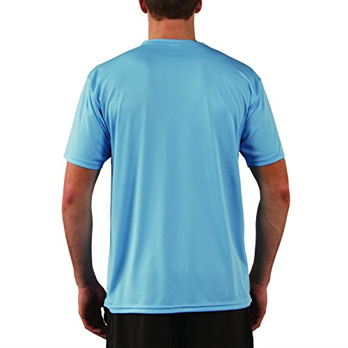 Vapor Apparel Men's UPF 50+ Solar Performance Short Sleeve T-Shirt X-Small Columbia Blue