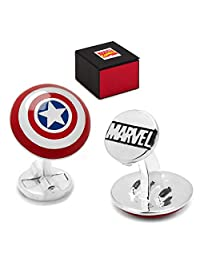 MARVEL Captain America Shield Cufflinks + Marvel Gift Box
