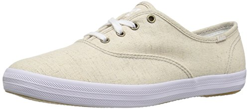Keds Women's Champion Seasonal Solid Fashion Sneaker,Natural,6.5 M US - Keds Canvas Sneakers