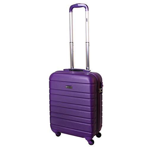Karry Handgepäck Bordgepäck Hartschalen Koffer für Kurzreisen Urlaub Reisen Businesskoffer Trolley Case TSA Schloss 30 Liter Lila 815