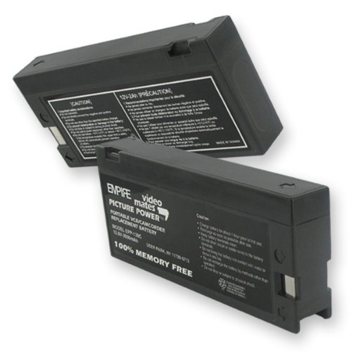 2000mA, 12V Replacement Battery for Quasar VM32 Video Cameras - Empire Scientific #EPP-130C by Empire Scientific