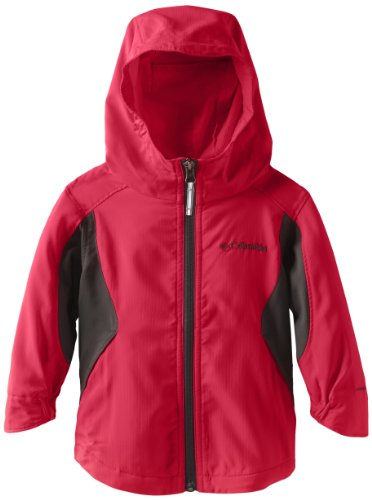 Flash Red Columbia Jacket Softshell Hooded Splash Girls' Laser II qwEw1vg