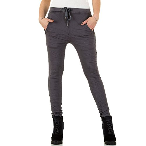 Place Du Jour Boyfriend Jogger Jeans Für Damen , Grau In Gr. 36 bei Ital-Design