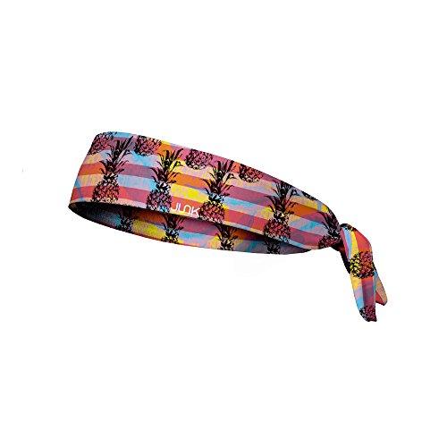 JUNK Brands Pineapple Express Flex Tie Headband, Purple/Pink/Orange, One Size