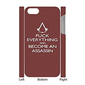 iphone4 Phone Case White Assassin Creed-5 ZCC577094