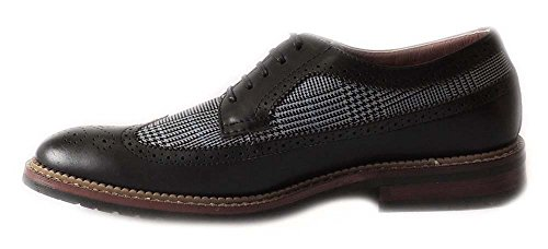Newferro Aldo Mens Aile À Carreaux Oxfords Lace Up Cuir Doublé Robe Chaussures Noir