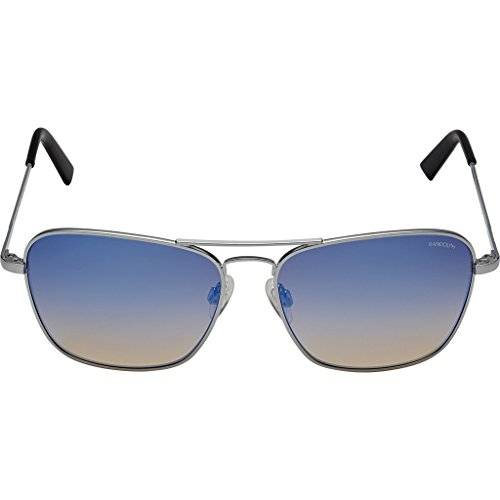 Randolph Intruder Square Sunglasses, Matte Chrome / Skull / Oasis Metallic Nylon - Oasis Sunglasses