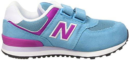 New Balance 483650-41, Baskets Basses Fille Bleu (Bleue Pink)