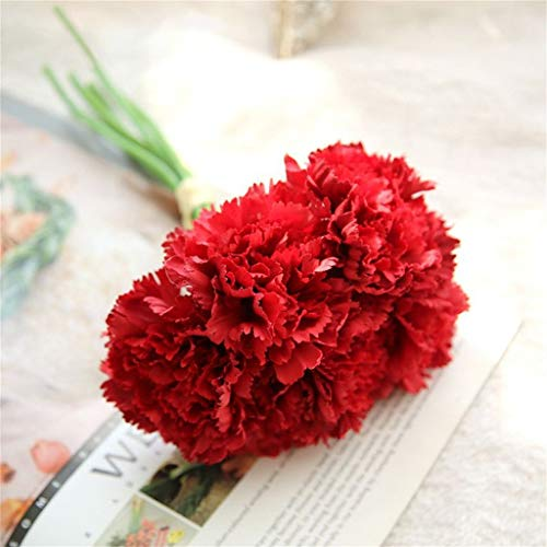 (Iulove_Artificial flowers Artificial Fake Carnations Silk Flower Bridal Hydrangea Home Mother's Day 6pcs)