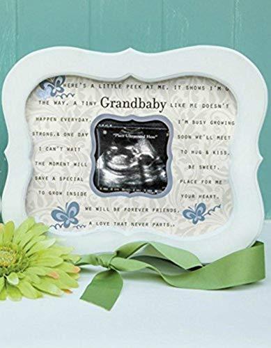 Keepsake Grandbaby Ultrasound Sonogram Poetry Scalloped Frame from The Grandparent Gift Co.