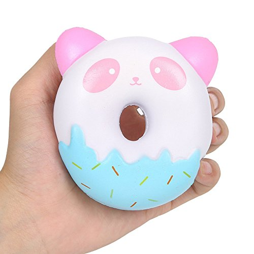 Raleighsee New Jumbo Squishies Toys Slowly Rising Decompression Squeeze Toy Stress Relief Squishy Cream Scented Kawaii Cute (Color random doughnuts)