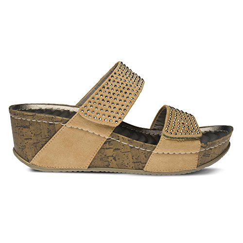 399da1654dc0 good Patrizia By Spring Step Delphine Women Open Toe Synthetic Wedge Sandal