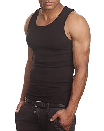 Men's A-Shirt Muscle Tank Top Gym Work Out Super Thick 3 PACK (Large, (Pro Tank)