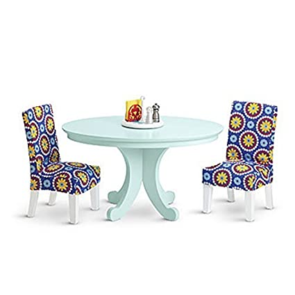 Amazon.com: American Girl DUO MY AG Dining Table, Chairs and ...
