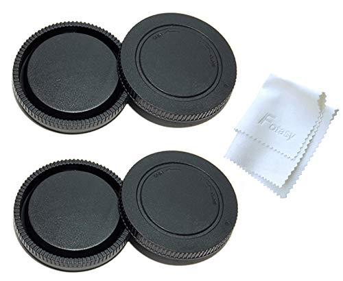 (2 Packs) Fotasy Rear Lens Cap Body Cap for Sony E Mount Camera, fits NEX-5R NEX5T NEX-6 NEX-7 a6500 a6400 a6300 a6000 a5100 a5000 a3500 a3000 A7 II III A7R II III A7S II III