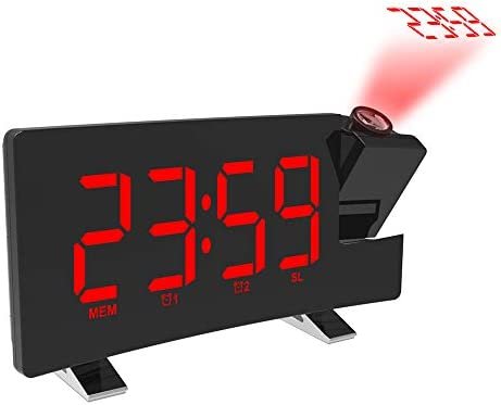 Tabanlly Reloj Despertador de proyección Reloj Despertador LED con ...
