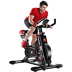 YOLEO Stationary Exercise Bike Indoor Cycling Bike Fitness Stationary All-inclusive Flywheel Bicycle with Resistance for…
