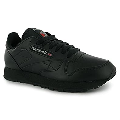 4c698a1e03b Reebok Mens Classic Leather Trainers Casual Sports Shoes Footwear Black UK  8(42)  Amazon.co.uk  Shoes   Bags