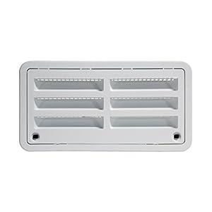 "RV Camper Trailer 20"" Dometic Refrigerator Side Wall Vent, WHITE 3109492.003"
