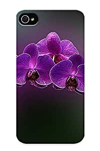 Improviselike Hot Tpye Purple Orchids Case Cover For Iphone 4/4s For Christmas Day's Gifts by supermalls