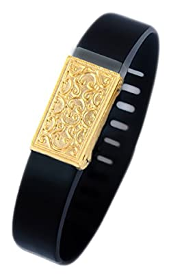Fitbit bling jewelry Fitbit Flex jewelry accessory - JUNE (Matte Gold Plated)