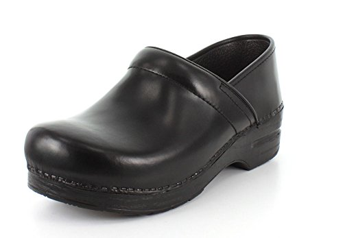 - Dansko Men's Wide Professional Clog Black Cabrio Leather Size 46 EU (12.5-13 M US Men)