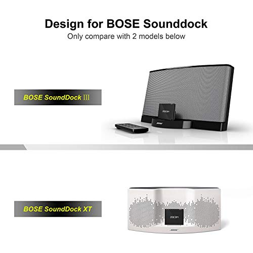 Wireless Bluetooth Music Receiver Adapter for Bose SoundDock,JBL,Philips XT  Dock Speaker with 8 Pin Port-Provide Extra Long Wireless Range (8 pin