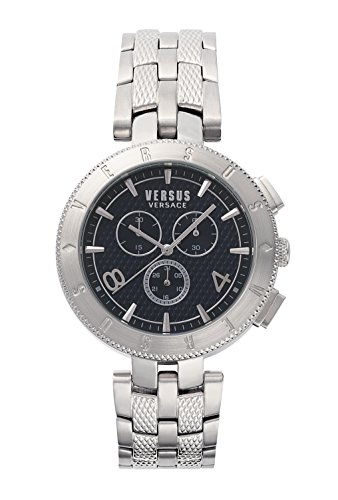 Versus by Versace Men's 'Logo Gent Chrono' Quartz Stainless Steel Casual Watch, Color:Silver-Toned (Model: S76130017)